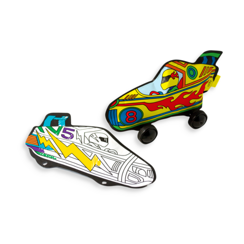 3d colorables - radical race cars
