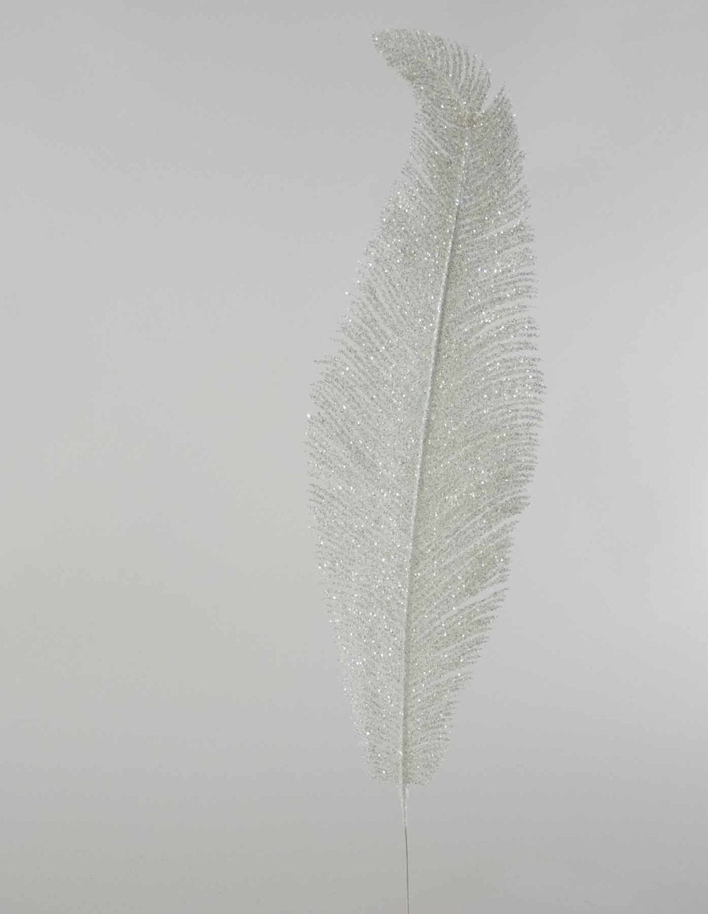 Fifi White Glittered Fern