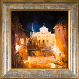 Oil Painting set Downtown Vilnius