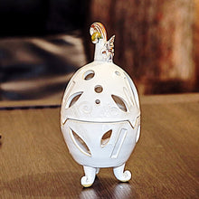 Small Ceramic Egg Candle Holder with Lid