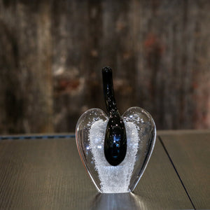 Medium Stem Glass Apple - Small