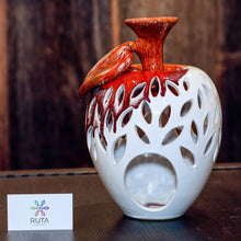 Large Ceramic Apple Candle Holder