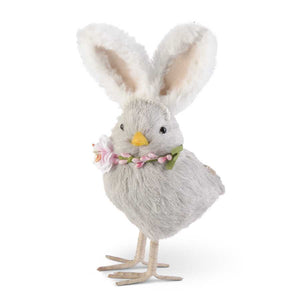 8.5 Inch Gray Chick w/Bunny Ears