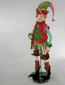 Christmas Elf Doll Green -32""
