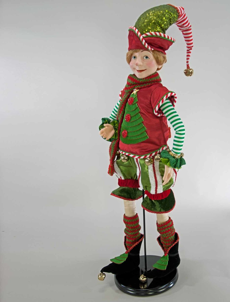 Christmas Elf Doll Green -32