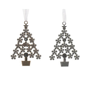 alloy tree w strass 2col ass