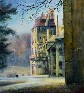 Oil Painting Doylestown Fonthill Castle