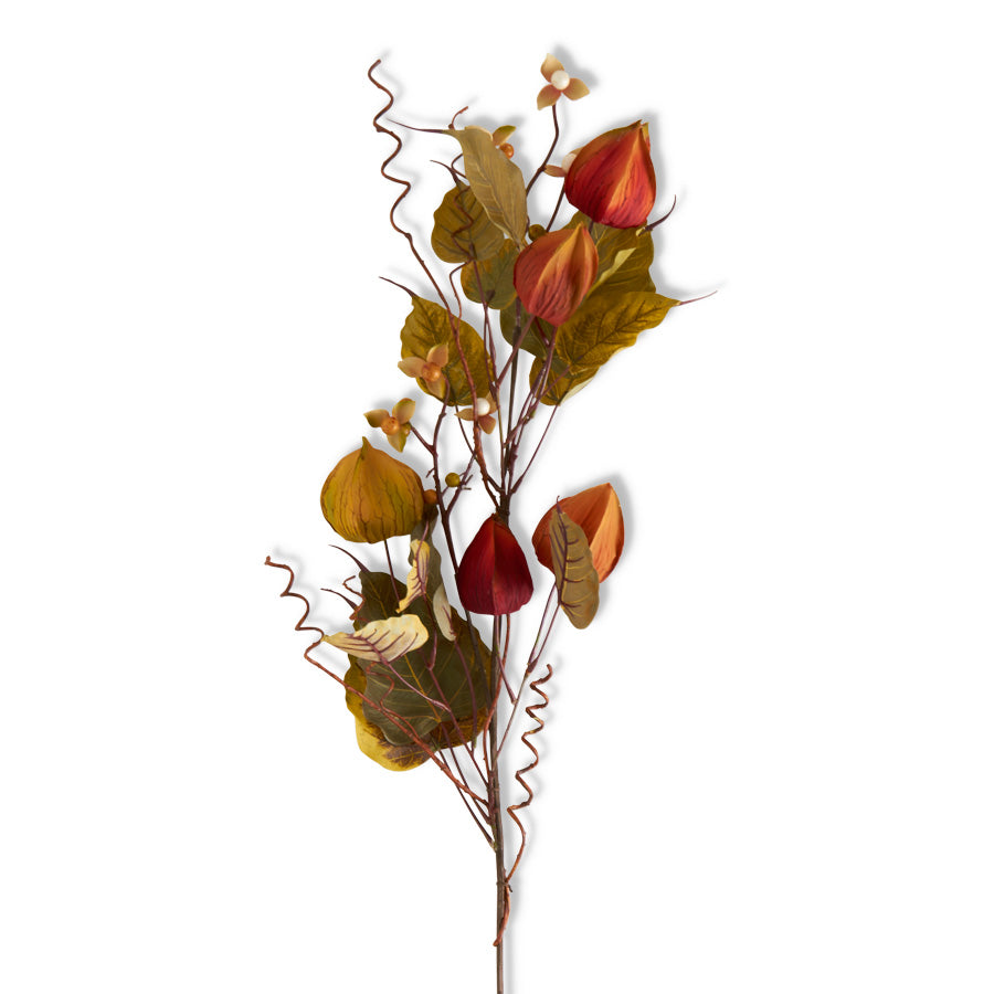 43 Inch Fall Chinese Lantern Berry Stem