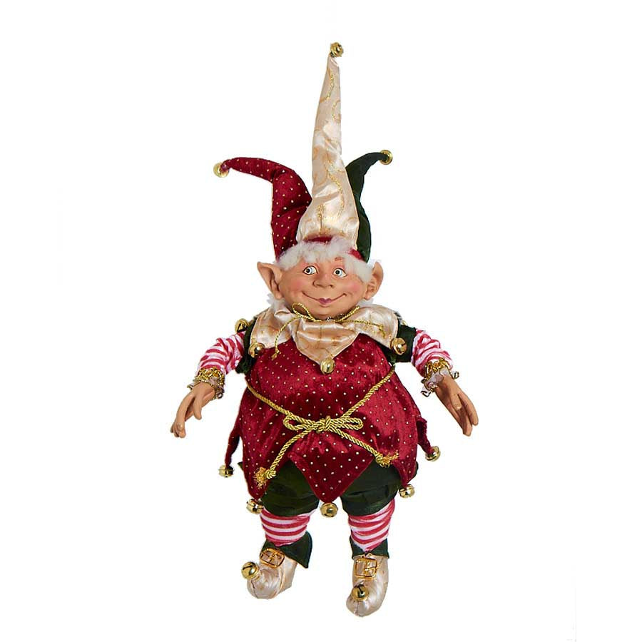 25 Inch Posable Round Jester with 3 Point Hat