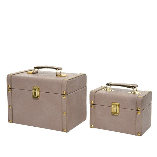 PU leather chest beauty case