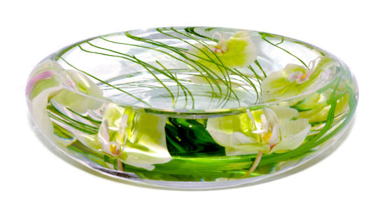 Green Phalaenopsis Large Flower Bowl