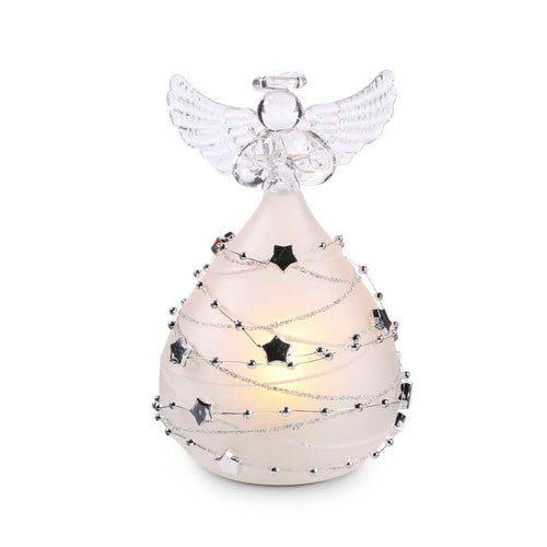 5 Inch Battery Operated LED Angel with Silver Star Detail