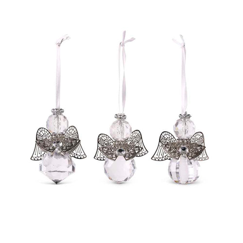 Assorted Angel Ornaments with Metal Wings (3 Styles)