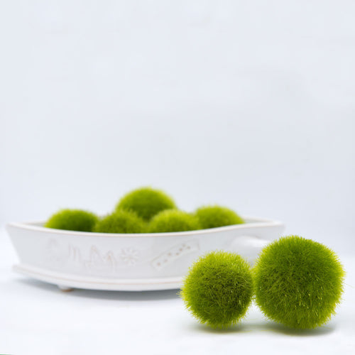 Fuzzy Moss Balls Bag of 12 2.5