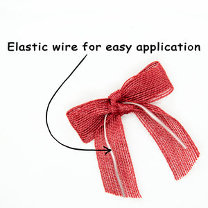 Red Jute Prettied  Bow (12PK)