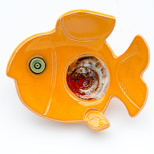Large Ceramic Fish soap dish/teabag holder