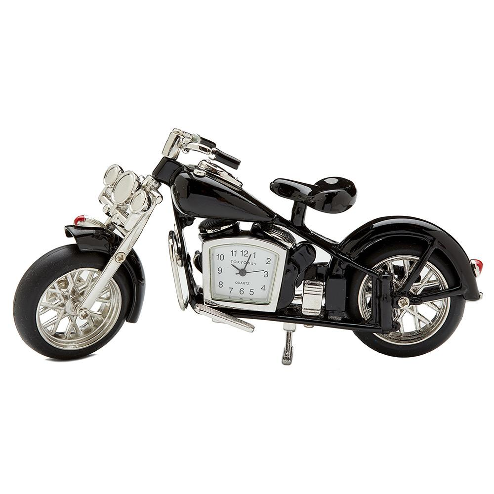 Motorcycle Clock Black