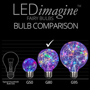 G80 Color Change RGB LEDimagine TM Fairy Light Bulbs