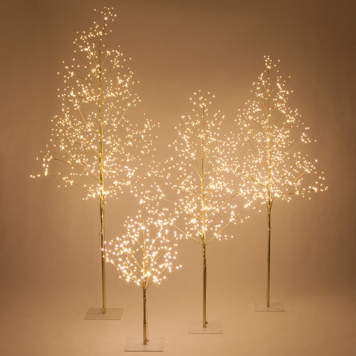 Gold Fairy Light Tree, Warm White LED