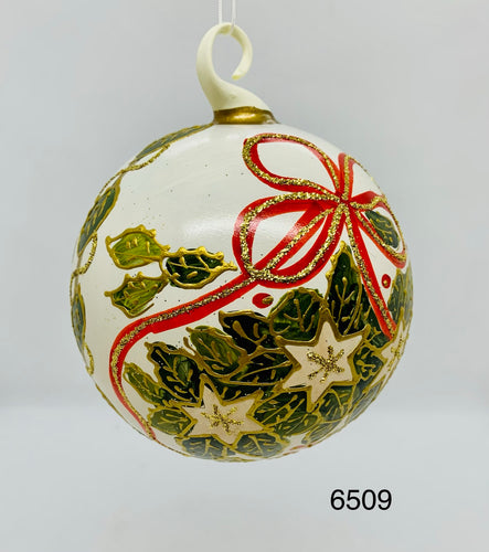 Austrian Hand painted Christmas Ornaments 6509