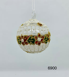 Austrian Hand painted Christmas Ornaments 6900