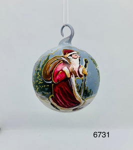 Austrian Hand painted Christmas Ornaments 6731