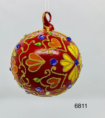 Austrian Hand painted Christmas Ornaments 6811