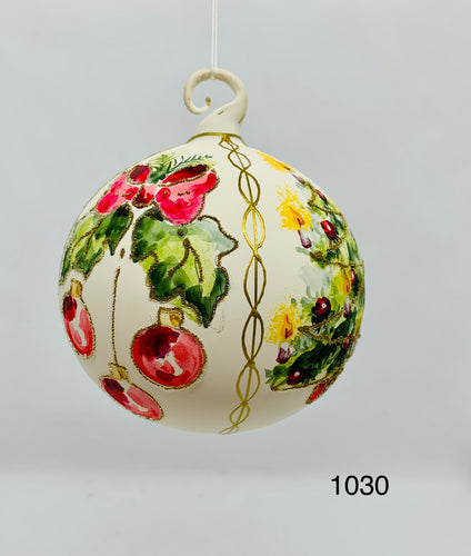Austrian Hand painted Christmas Ornaments 1030