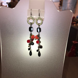 Hande Made Jewelry Set with Venetian glass and Swarovski crystals