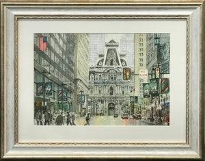 """City Hall"" Watercolor By J. Sasnauskiene"