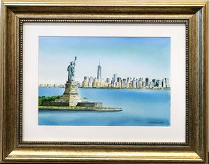 """New York"" Watercolor By J. Sasnauskiene"