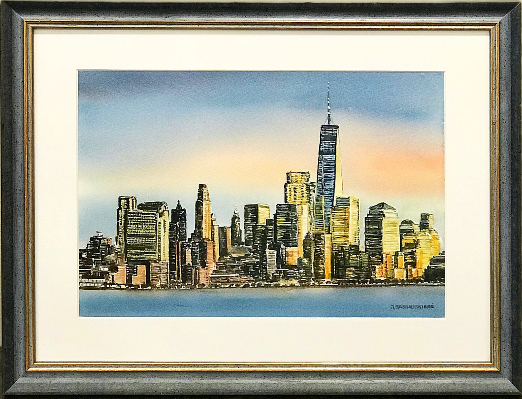 ''Chicago'' Watercolor By J. Sasnauskiene
