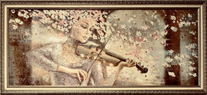 Girl with violin oil on canvas II