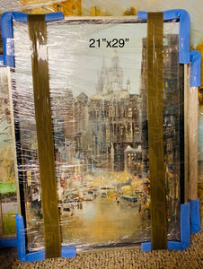 Oil Painting ''New York 2'' By Rolandas Mociunas 2018
