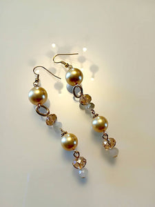 Hand Made Set with a Yellow pearls