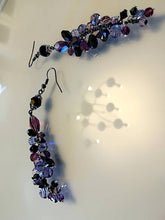 Hand made Set Earrings and Bracelet with Swarovski Crystals