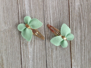 Handmade Hair Bows Light Green