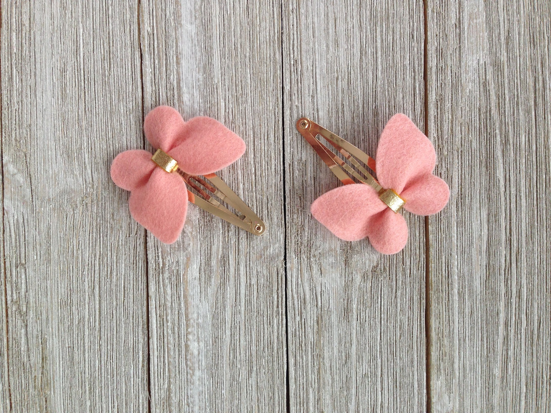 Handmade Hair Bows Light Peach