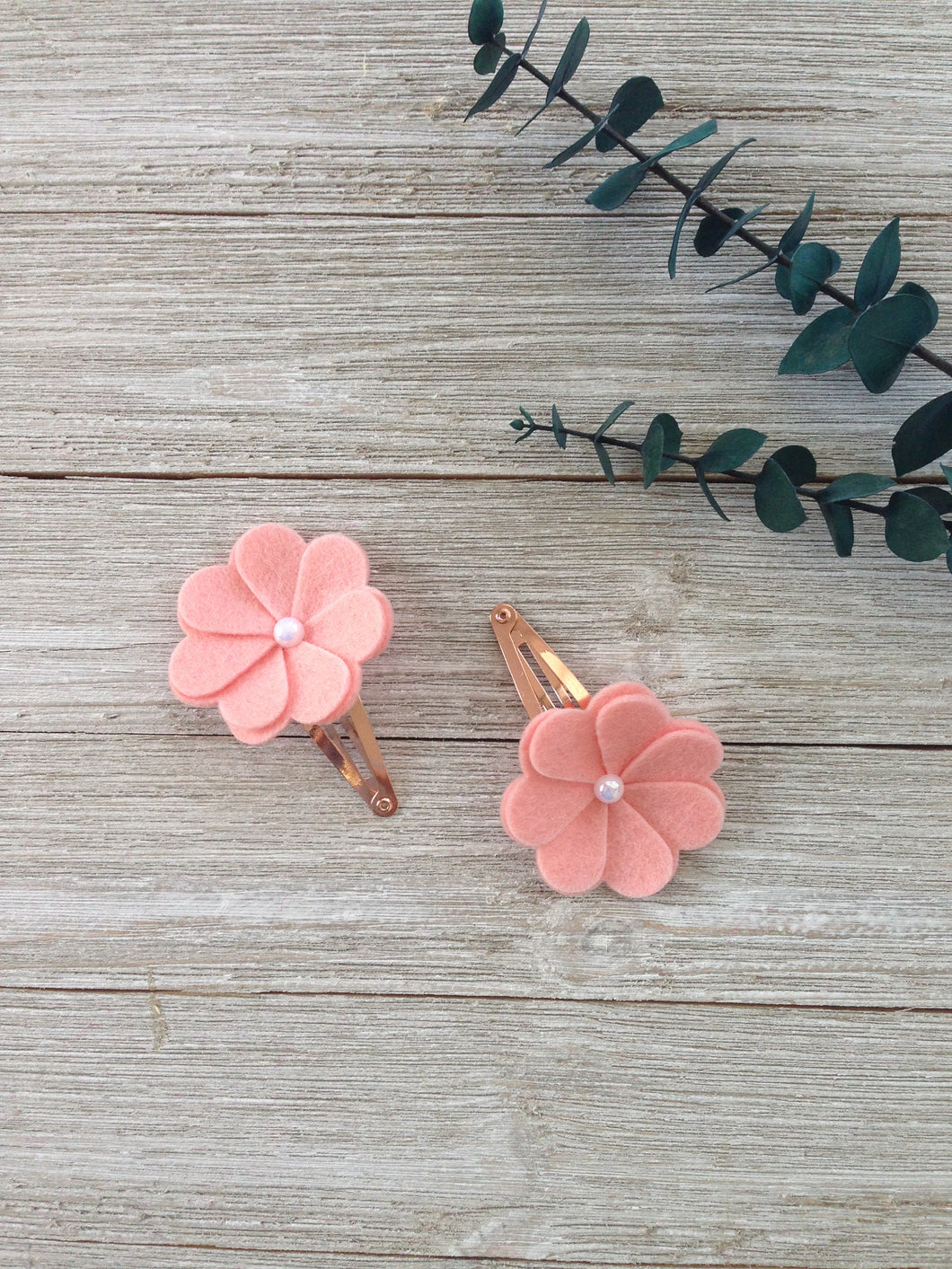 Handmade  Hair Bows Pink flowers