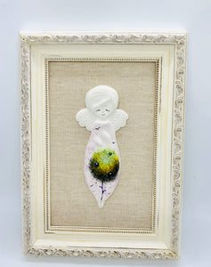 Ceramic hand made angel picture