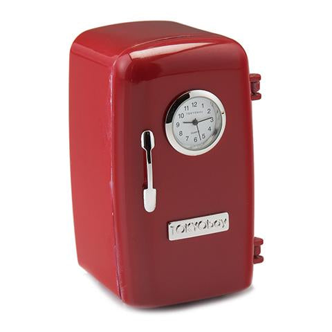 Ice Box Clock Red