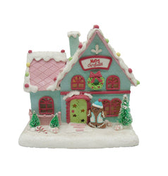 7IN Blue Gingerbread House