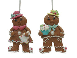 4.5 IN 2 Asst Gingerbread Cookie Orn
