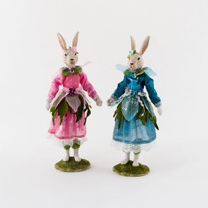 Forest Fairy Bunny, 2 Asst, Resin/Polyester, 12.5""