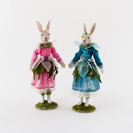 Forest Fairy Bunny, 2 Asst, Resin/Polyester, 12.5