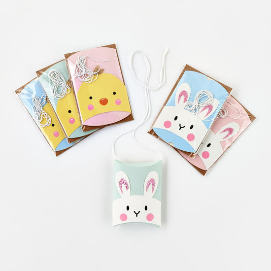 Easter Paper Favor Box, 6 Asst, Cello Bag, 2.75