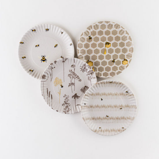 Busy Bees Plate, St/4, Melamine, 9