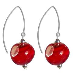 PEBBLE GLASS EARRINGS-