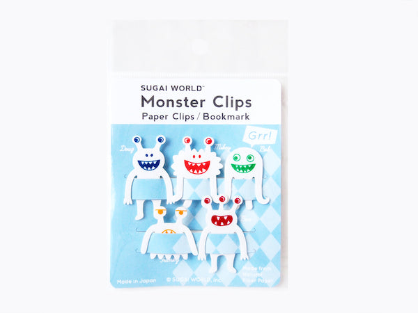 Paper Clip / Bookmark White Monster