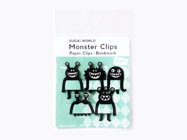 Paper Clip / Bookmark Black Monster